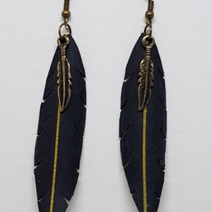 Earrings - Yellow Stripe